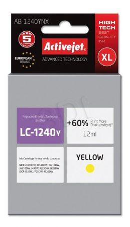 Tusz Activejet AB-1240YNX (Brother LC1240Y/1220Y) supreme 12ml yellow