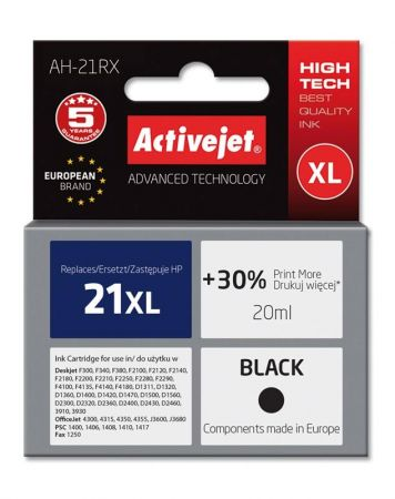 Tusz Activejet AH-21RX (Hewlett Packard HP 21XL C9351A) premium 20ml czarny