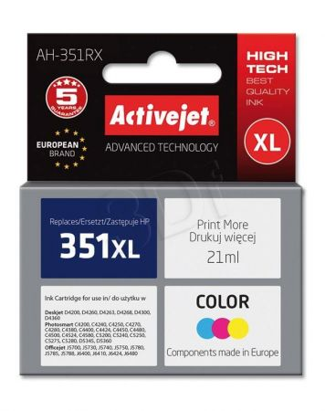 Tusz Activejet AH-351RX (Hewlett Packard HP 351XL CB338EE) premium 21ml tr
