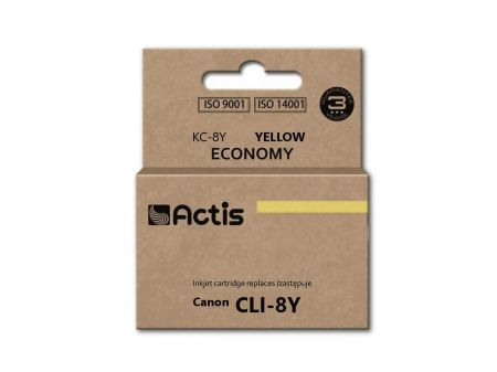 Tusz Actis KC-8Y (Canon  CLI-8) standard 14ml yellow Chip