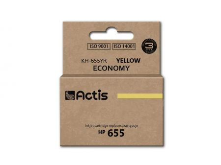 Tusz Actis KH-655YR (HP 655 CZ112AE) standard 12ml yellow Chip